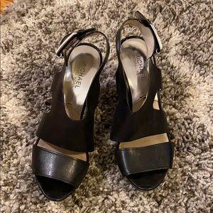 Black Michael Kohrs Platform Sandals